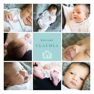 8 photo collage of a baby girl - various different close up images