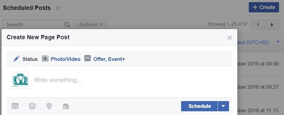 facebook schedule
